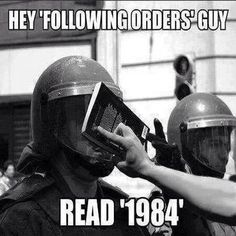Just following orders...