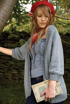 'Frankie' by Kim Hargreaves. Yup, this makes me want a boyfriend cardigan.