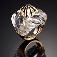 Gold and quartz jalino ring | DAVID WEBB Jewels