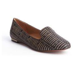 Rachel Zoe Brown embossed leather 'Zahara' loafers