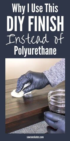 Polyurethane is too fussy! I searched for ideas for finishes I could use instead of poly and found this recipe (lots of great tips too). It's easy to make, easy to apply and nearly impossible to mess up! It can be used on raw wood or over stain. Easy Woodworking Projects, Popular Woodworking, Woodworking Furniture, Fine Woodworking, Diy Wood Projects, Art Projects, Woodworking Basics, Woodworking Classes, Woodworking Patterns