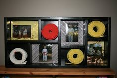 way to display martial arts belts and pictures