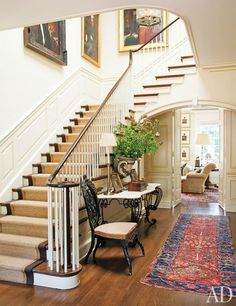 love the carpet on the stairs.