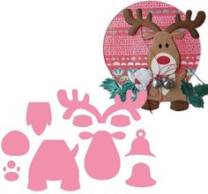 Marianne Design Collectables Dies Eline's Reindeer - Craftie Cafe l… Felt Diy, Felt Crafts, Paper Crafts, Diy Crafts, Noel Christmas, Christmas Crafts, Christmas Ornaments, Felt Christmas Decorations, Christmas Applique