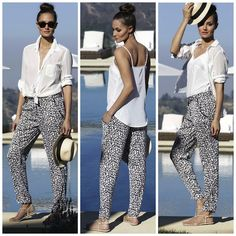 Khloe Kardashian - Kardashian Kollection cheetah slouch pants