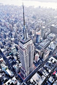 Empire State Building, NYC, New Yorkvia cityofnewyork / ileftmyheartinmanhattan  Awesome top-down pic of the ESB.
