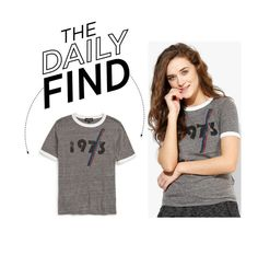 """""""The Daily Find: 1973 Ringer T-Shirt"""" by polyvore-editorial ❤ liked on Polyvore featuring Topshop and DailyFind"""