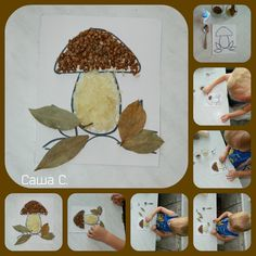 Bolet amb dentilles i arros Fall Crafts For Toddlers, Easy Toddler Crafts, Fall Arts And Crafts, Autumn Crafts, Preschool Food Crafts, Halloween Crafts To Sell, October Crafts, Kids Workshop, Fall Art Projects