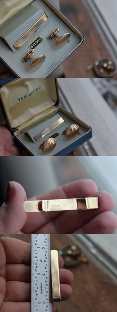Tie Clasps and Tacks 10298: Vintage Van Guard 10K Solid Yellow Gold Tie Bar Clasp Cufflinks Set. 14.2 Grams -> BUY IT NOW ONLY: $699.99 on eBay!
