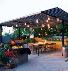 Love this patio garden