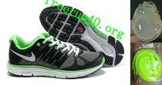 Mens Nike LunarElite+ 2 Black Gray Green Shoes