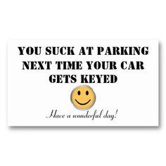 Worlds lousiest parker custom parking card colourmoves