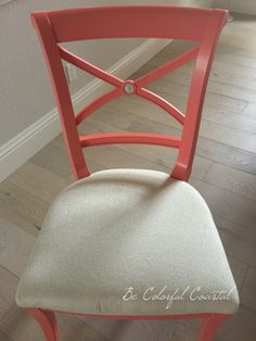 Dining Chair In Ben Moore Fan Coral @ Be Colorful Coastalhttp://www.