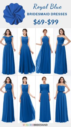 31 Best Royal Blue Bridesmaid Dresses