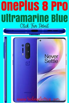 OnePlus 8 Pro Ultramarine Blue is a 5G supported unlocked android  smartphone. It is U.S version with the wide storage of 12GB RAM and  256GB ROM storage. Click for more detail Best Smartphone, Android Smartphone, Cheap Gaming Laptop, High Resolution Camera, Amazon Online, Latest Cell Phones, Phone Companies, Best Budget, Built In Storage