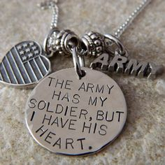 The Army has my Soldier But I have His Heart by WireNWhimsy, $33.00  Soo cute!