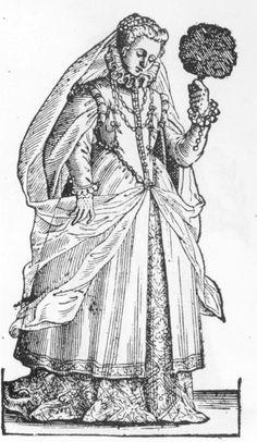 Cesare Vecellio, 1585-90, Reproduced by Dover Books as Vecellio's Renaissance Costume Book Paduan matron