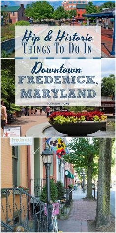 There are so many fun things to do in historic downtown Frederick, Maryland! The clustered spires, architecture, mansions and vintage homes are perfect for photography, the restaurants are a foodie haven and the outdoor activities are plentiful. A great USA travel spot. via @eatmovemake