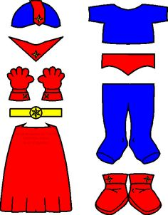 MakingFriends Super Hero Friends color Print red cape, trunks, boots, gloves and collar plus blue tights, shirt and helmet with gold belt for your super friend. Superhero Classroom Theme, Superhero Party, Classroom Themes, Batman Party, Superhero Clothes, Super Hero Activities, Super Hero Crafts, Summer Activities, Superman