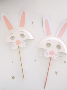These Easter bunny masks are a sweet DIY project for the kids.