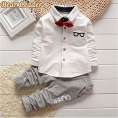 Bear Leader Baby Clothing Sets Kids Clothes Autumn Baby Sets Kids Long Sleeve Sports Suits Bow Tie T-shirts + Pants Boys Clothes #>=#>=#>=#>=#> Click on the pin to check out discount price, color, size, shipping, etc. Save and like it!