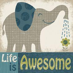 Awesome Elephant Art Print