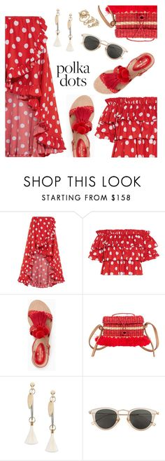 """""""So Dotty: Polka Dots"""" by dressedbyrose ❤ liked on Polyvore featuring Caroline Constas, Kate Spade, Nannacay, Chloé, Issey Miyake and Marchesa"""