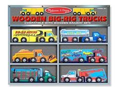 Wooden big rig trucks