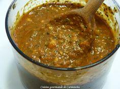 Pesto de tomate (Pesto Rosso Italie) http://www.carmen-cuisine.com/2016/05/pesto-de-tomate-pesto-rosso-italie.html