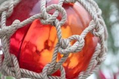 Beach Decor Red Glass Fishing Float Vintage by by SEASTYLE on Etsy Vintage Style, Vintage Fashion, Picture Places, Glass Floats, Red Glass, Coastal Decor, Balls, Nautical, Favorite Things