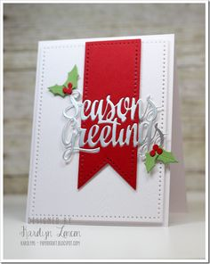 Karolyn Loncon for Avery Elle using Dotted Does and Season's Greetings dies