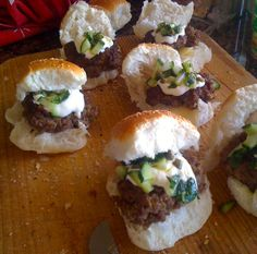 Australia Day Lamb Burgers with Cuccumber and Mint