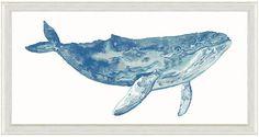 One Kings Lane Watercolor Blue Whale Print Art
