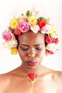 #floral #hairstyle photo taken for my portfolio on www.picturenative.com