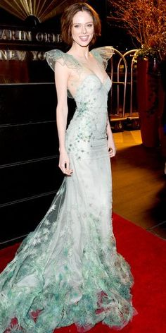 Coco Rocha in Zac Posen for the New Yorkers For Children Gala red carpet. IN LOVE