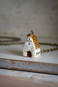 Miniature Irish Church Pendant Hand Painted by HomespunIreland