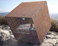 precarious 'tip-box' pavilion offers vertigo-inducing views of the montpellier mountains