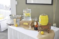 Cute grey and yellow bridal shower!