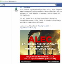 ALEC - Climate Change Denying, Union Busting, Worker Rights Denier Organization, Facebook, Google and Yelp Joining It | AGreenRoad Project - A Science Of Sustainable Health/Success