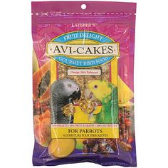 A Delightful Explosion of Tastes. Your feathered friend will truly be delighted when they find that fruits like cranberries, dates, mango, papaya and pineapple, which are full of healthy nutrients, have been added to AviCakes!
