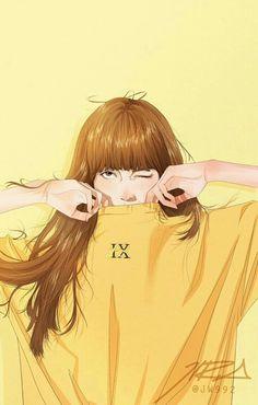 Pop Art Wallpaper, Lisa Blackpink Wallpaper, Cartoon Wallpaper, Art Anime Fille, Anime Art Girl, Kpop Drawings, Cute Drawings, Animes Wallpapers, Cute Wallpapers