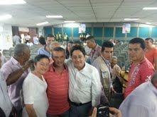Con delegados de 35 municipios del Valle del Cauca. Retomaremos el Rumbo. @PachoSantosC