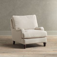 """Montgomery Upholstered Arm Chair; 35""""H x 36""""W x 42""""D; $1099"""