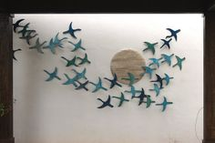 20 Flying birds outdoor wall art made from ceramic that pop