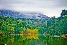Alimalat (Elimalat) Lake, Noor, Mazandaran province, Iran, (in Persian: دریاچه زیبای جنگلی الیمالات - نور, ساحل دریای خرر)