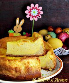Pasca cu smantana - Lecturi si Arome Pie Recipes, Recipies, Romanian Food, Pavlova, Cheesecakes, Vanilla Cake, Nutella, French Toast, Good Food