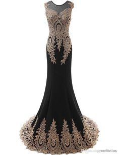 Show your best to all people even in the evening and then get free shipping gold lace mermaid evening dresses 2016 see through front…