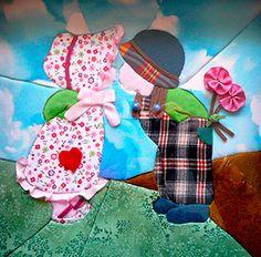 Resultado de imagen para tips for making sunbonnet sue quilt Embroidery Patterns Free, Quilt Patterns, Sewing Patterns, Sue Sunbonnet, Crazy Patchwork, Holly Hobbie, Doll Quilt, Applique Quilts, Applique Designs