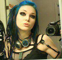 emo punk rock selfie