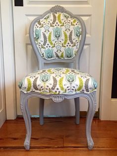 Customizable French Kitchen/Dining Chairs ready for your choice of paint and fabric by ChairWhimsy on Etsy https://www.etsy.com/listing/384447554/customizable-french-kitchendining-chairs